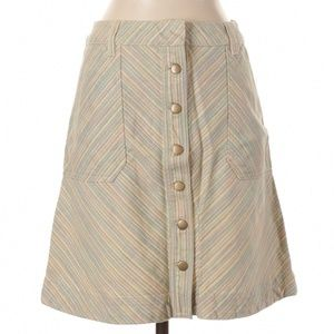 Anthropologie Skirts - ANTHROPOLOGIE Pilcro Button Chino Striped Skirt